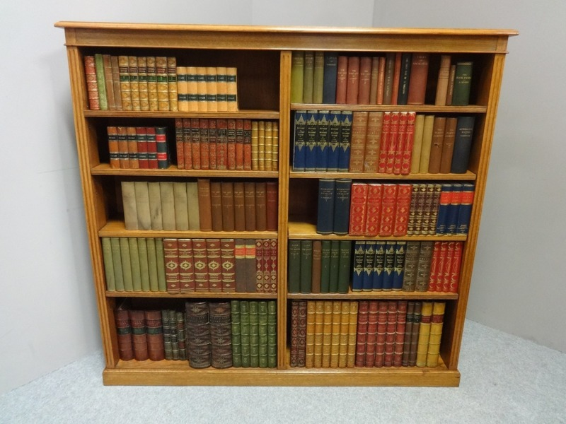 Outstanding Victorian Solid Golden Oak Open Library Bookcase
