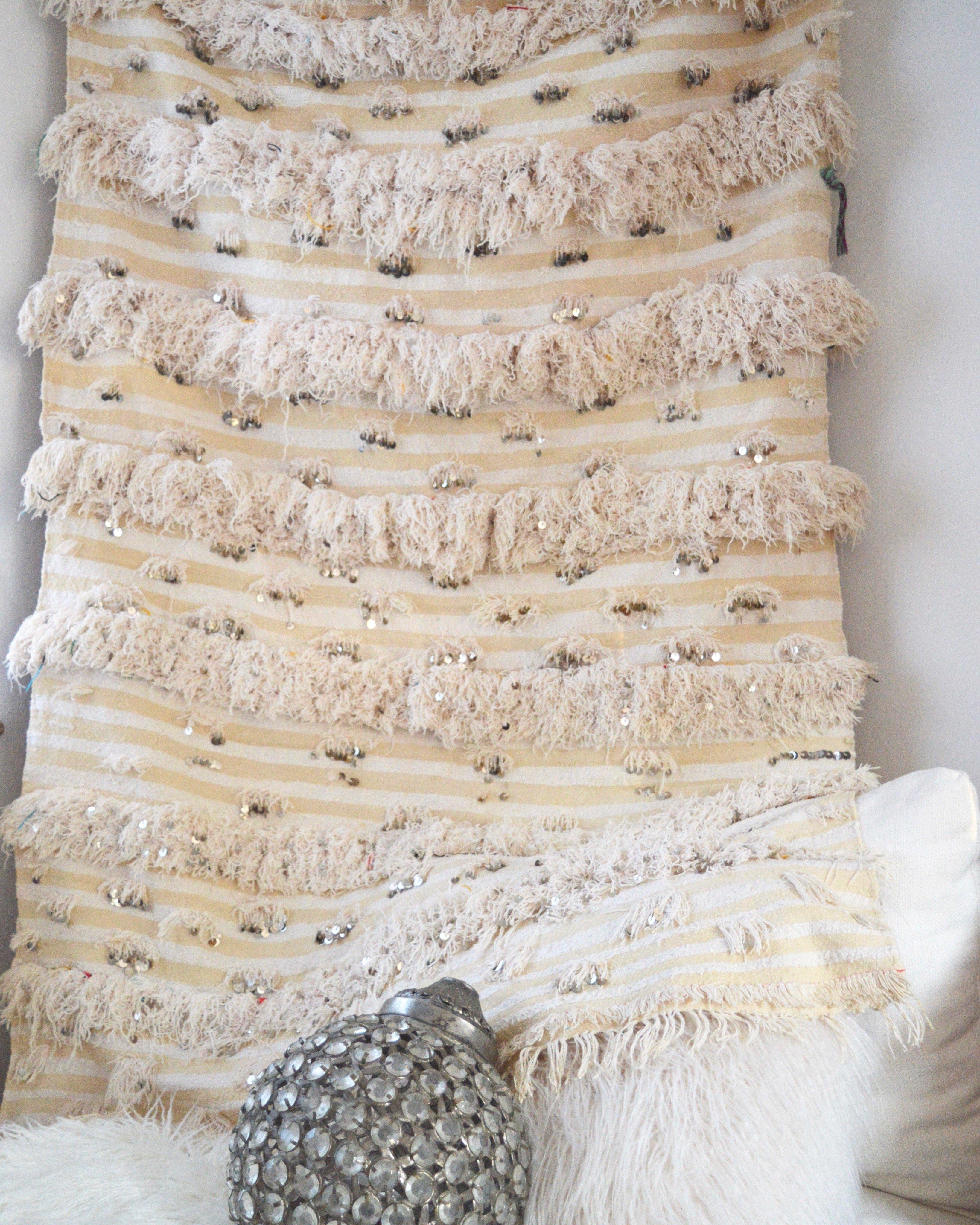 Moroccan Wedding Blanket.Vintage Moroccan Wedding Blanket Throw