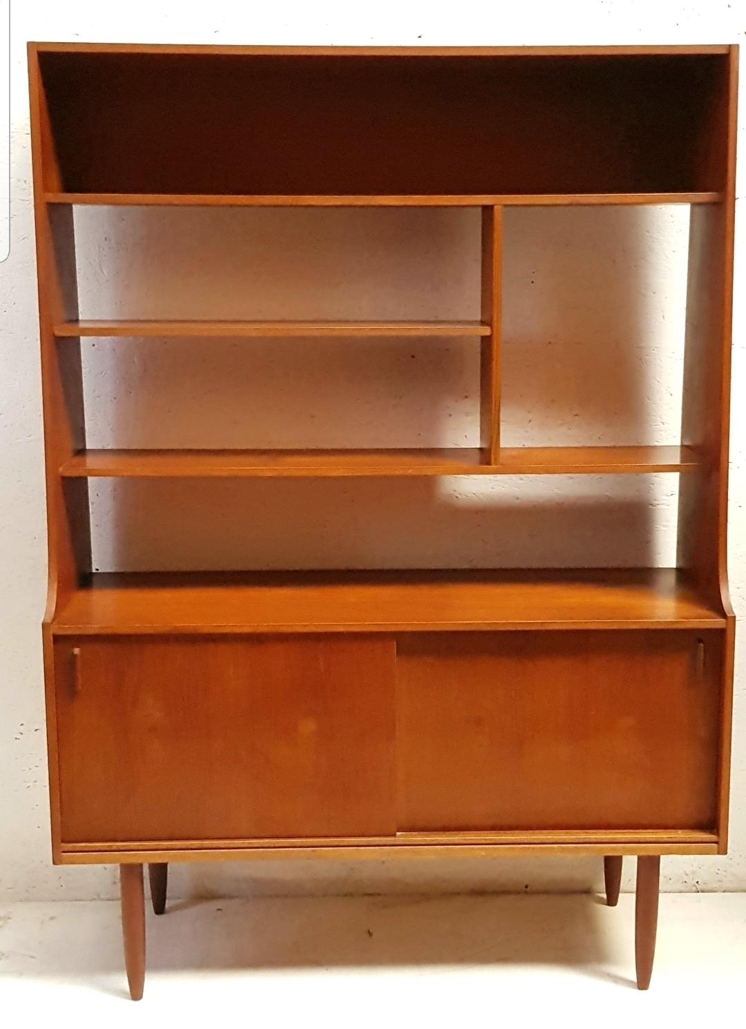 Midcentury Modern Teak Room Divider Retro Bookshelf Display Stand 1960s G Plan Danish Modern