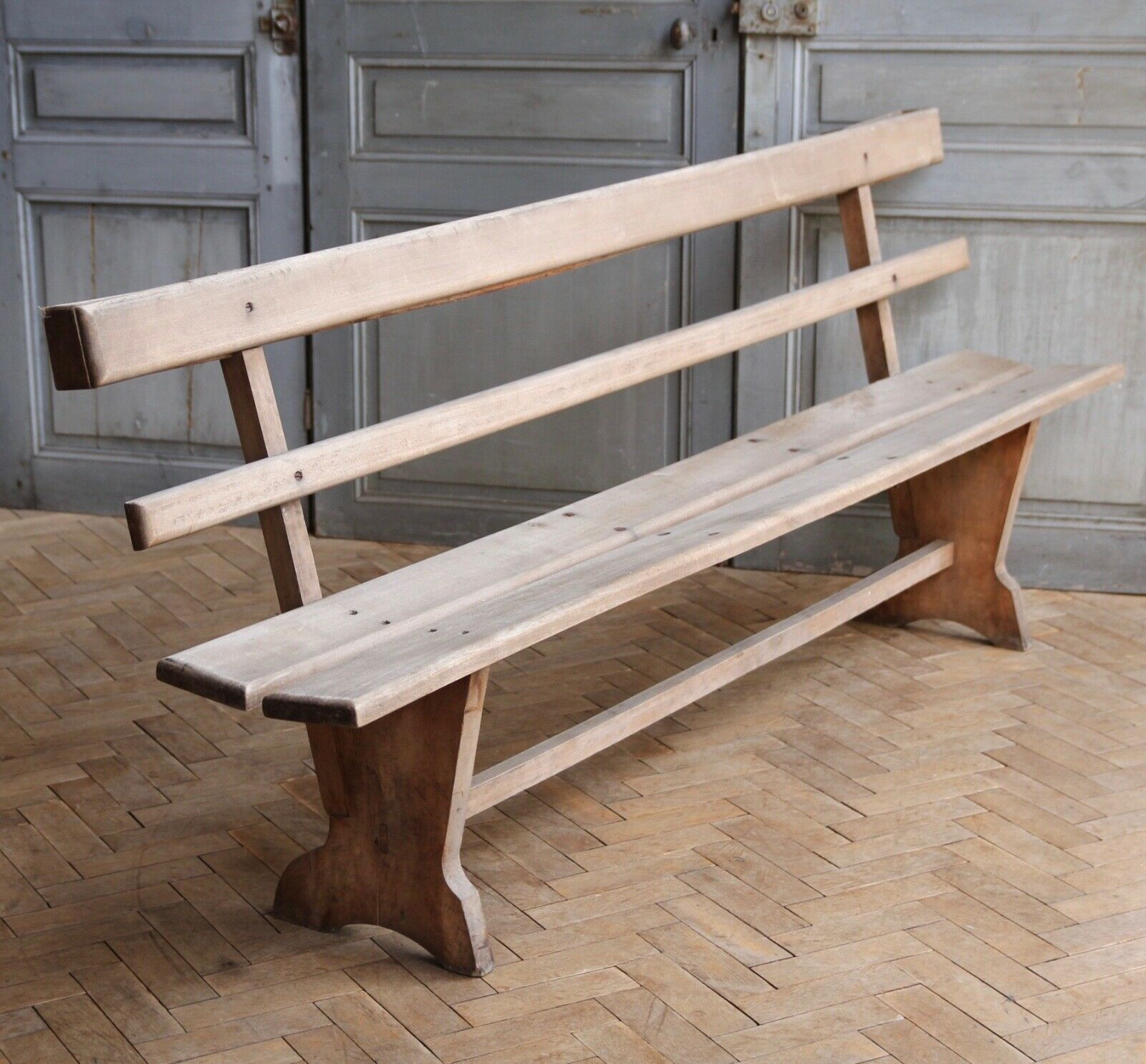 Awesome Vintage Wooden French Beech Garden Bench Caraccident5 Cool Chair Designs And Ideas Caraccident5Info