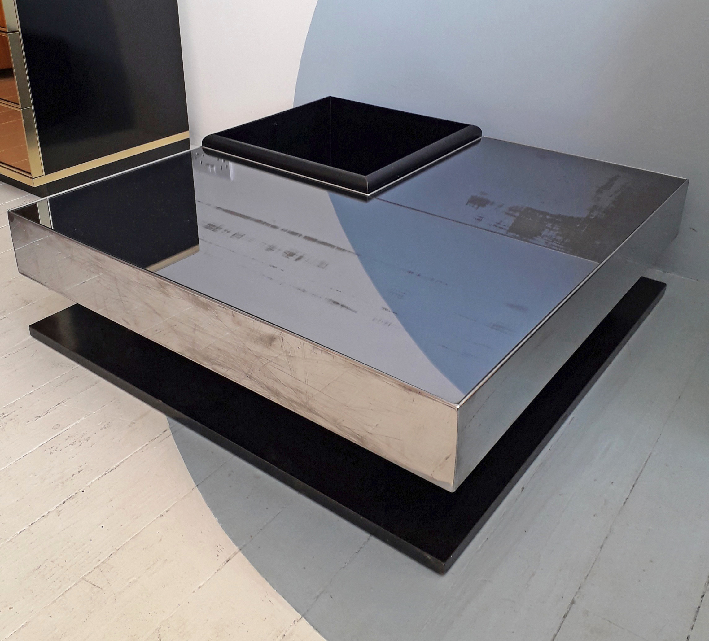 Willy Rizzo Coffee Table.70s Italian Willy Rizzo Style Modular Coffee Table With Bar Planter Compartment