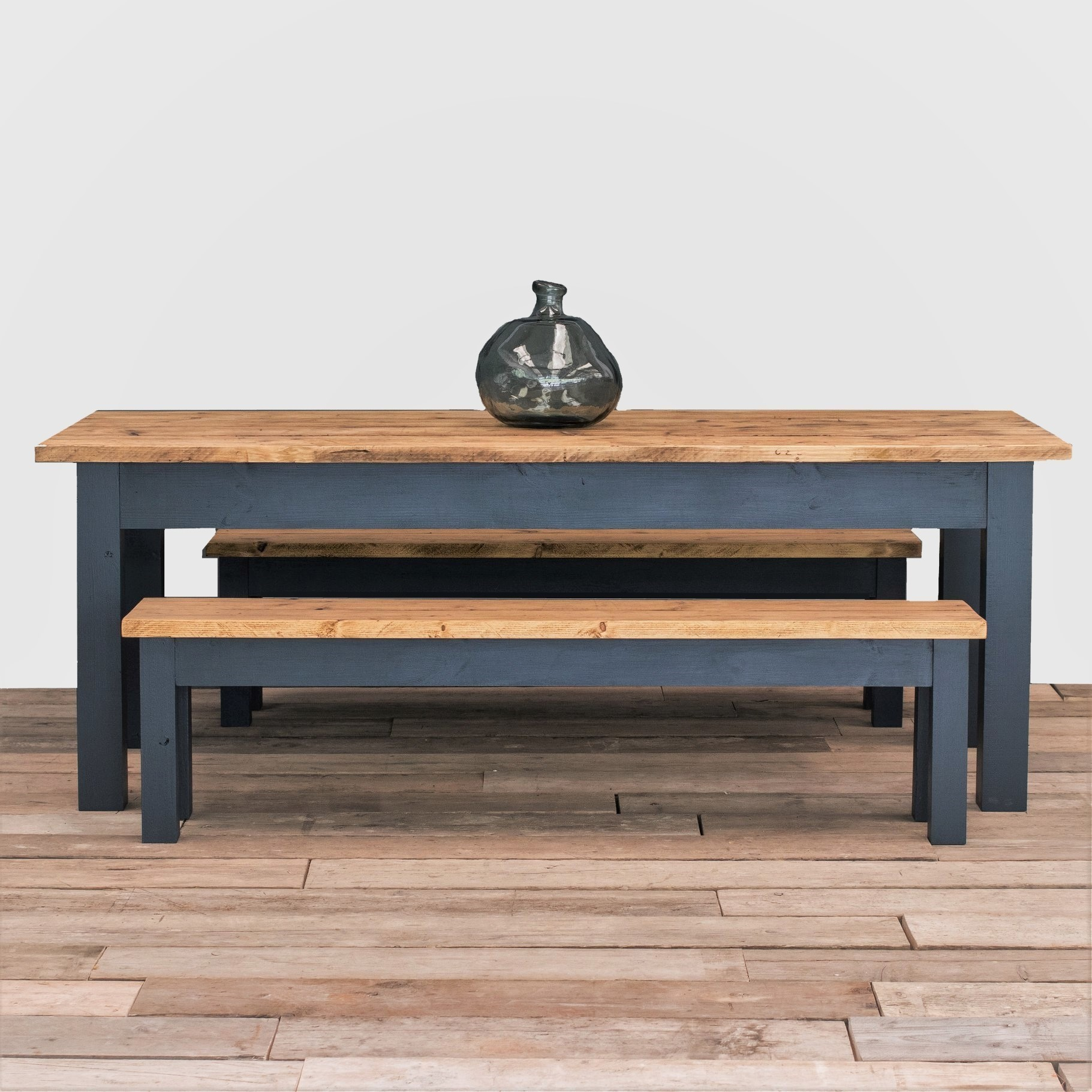 The Dairy Table Dining Set Rustic Reclaimed Dining Kitchen Table