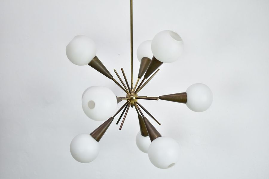 Italian Sputnik Chandelier From Stillovo, 1950s