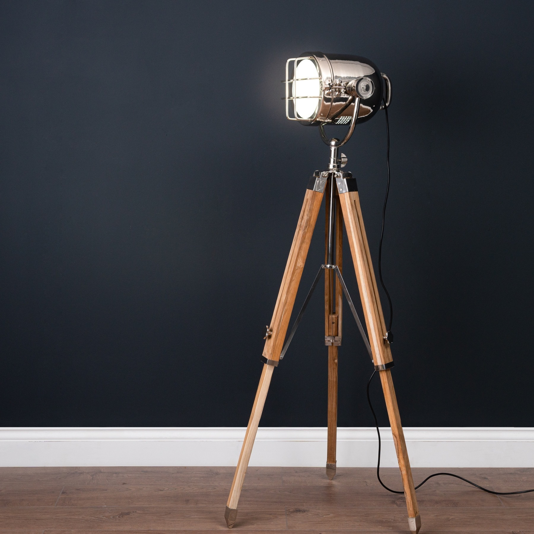 reputable site 84ec2 fa23d One Industrial Tripod Floor Lamp With Two Matching Table Lamps
