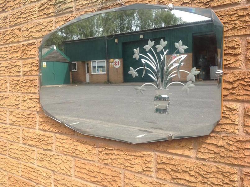 Art Deco Etched Glass Mirror Vinterior