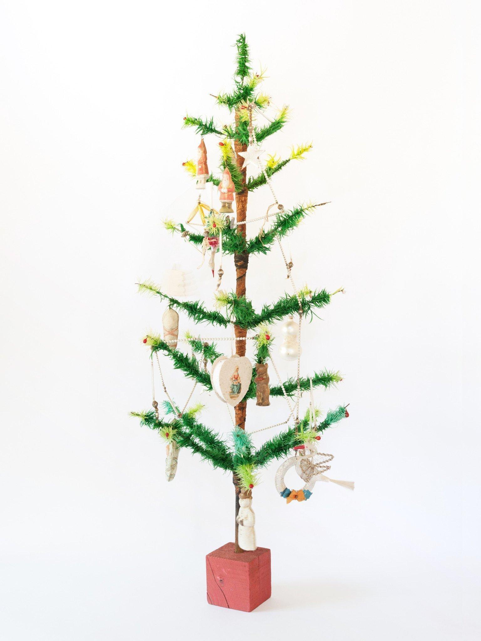 Amazing Vintage German Goose Feather Christmas Tree 3ft 92cm