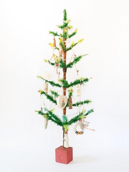Amazing Vintage German Goose Feather Christmas Tree 3ft (92cm)