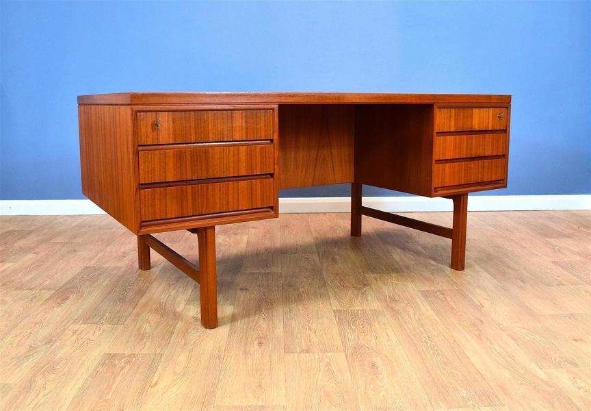 Twin Pedestal Office Desk By Omann Jun