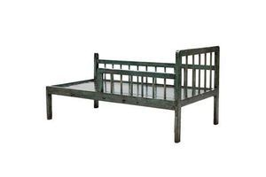 Thumb blue lacquer chinese daybed with rails 0