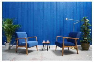 Thumb 1960 s mid century modern armchairs in navy blue velvet set of 2 1960 0