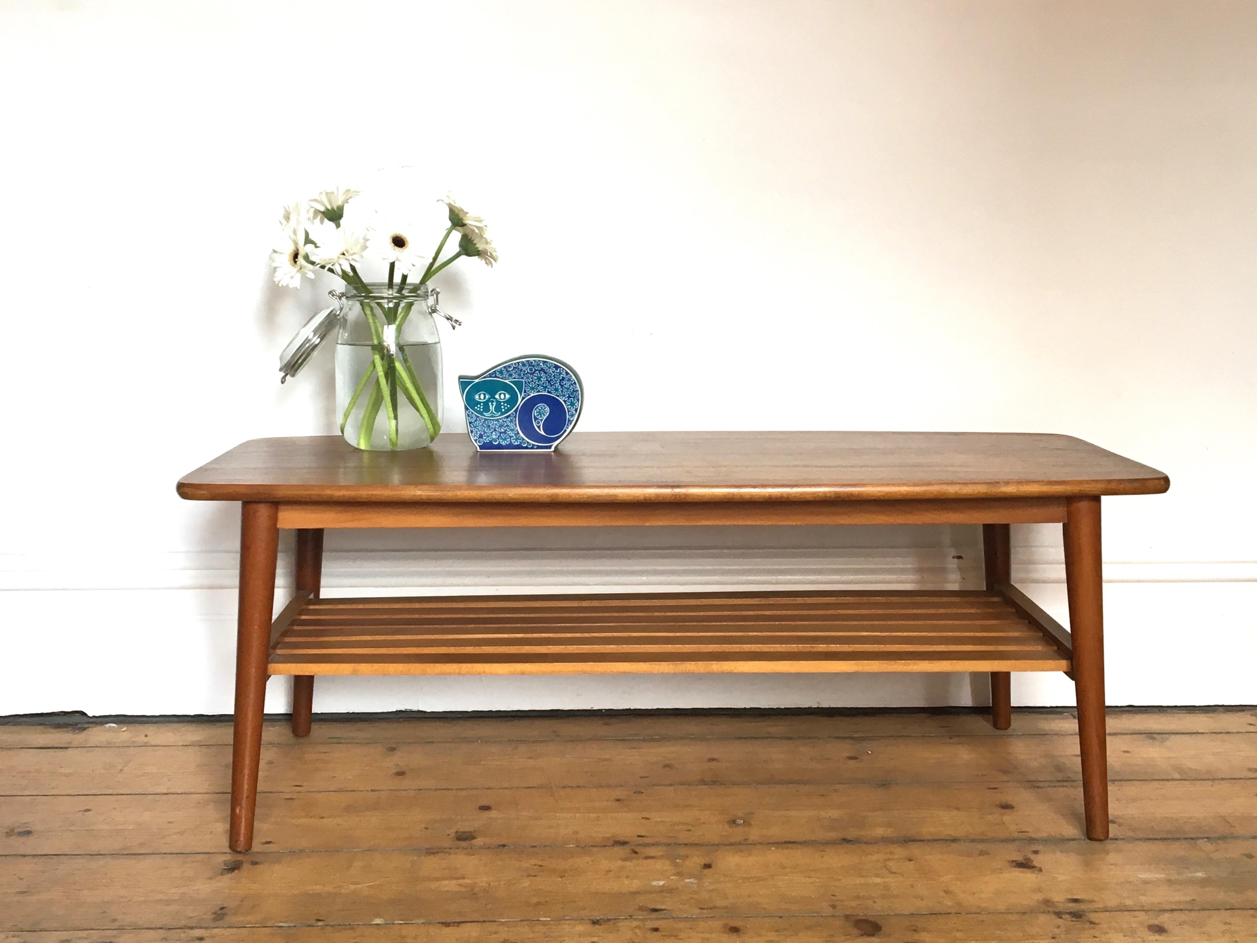 Miraculous Retro Wooden Coffee Table Mid Century Mid Century Design 1960S 1970S Evergreenethics Interior Chair Design Evergreenethicsorg
