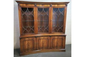 Thumb reprodux bevan funnell mahogany concave display cabinet bookcase 0