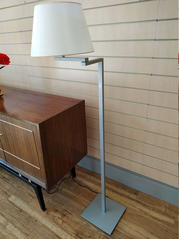 Blauet Vintage Floor Lamp Designer Estudio Baluet Minimalistic Lighting Satin Nickel
