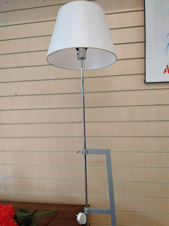Blauet Vintage Adjule Floor Lamp Designer Estudio Baluet Minimalistic Lighting Satin Nickel T Bar