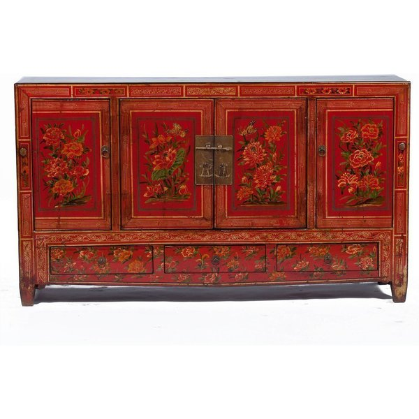 Vintage Chinese Sideboard Cabinet From Dongbei photo 1