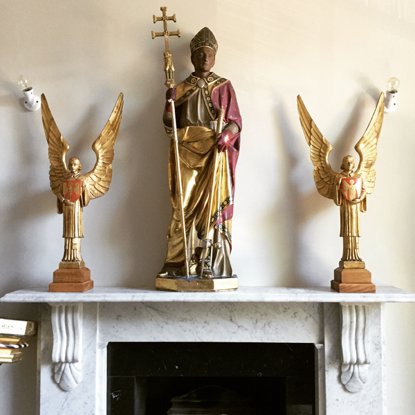 Pair Of Grumpy Angels C1920s From St. Alfeges Church In Central London