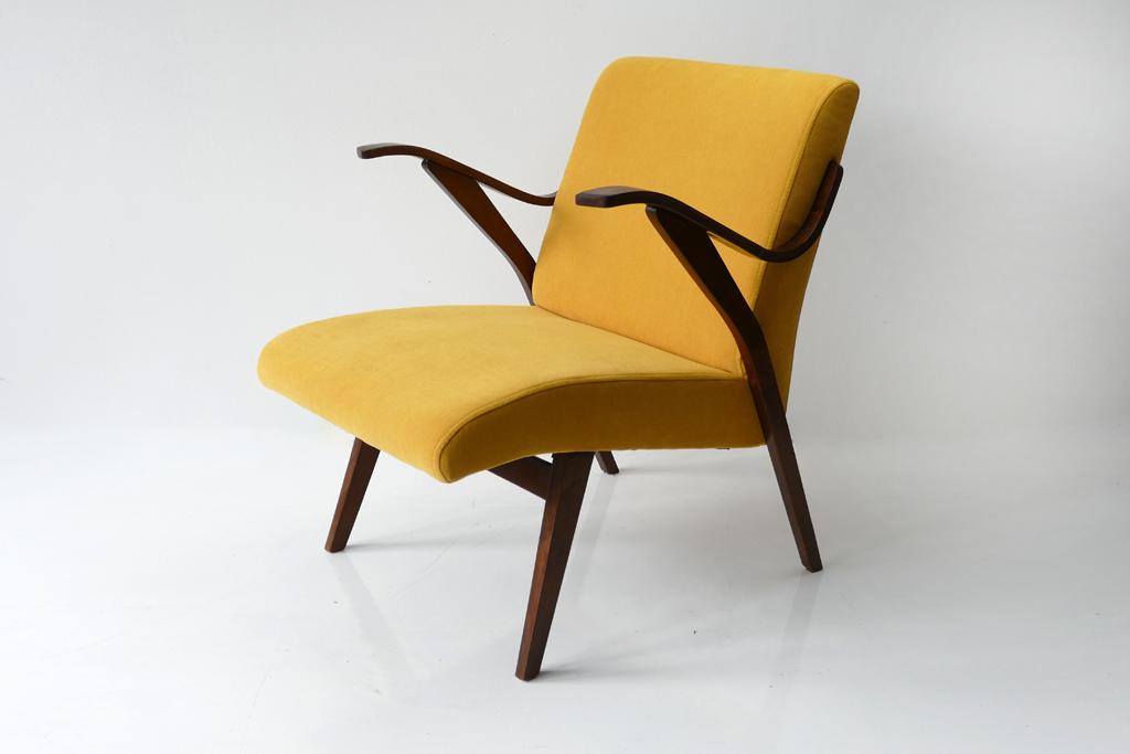 vintage yellow armchair by tatra nabytok 50 s 60 s 1960s