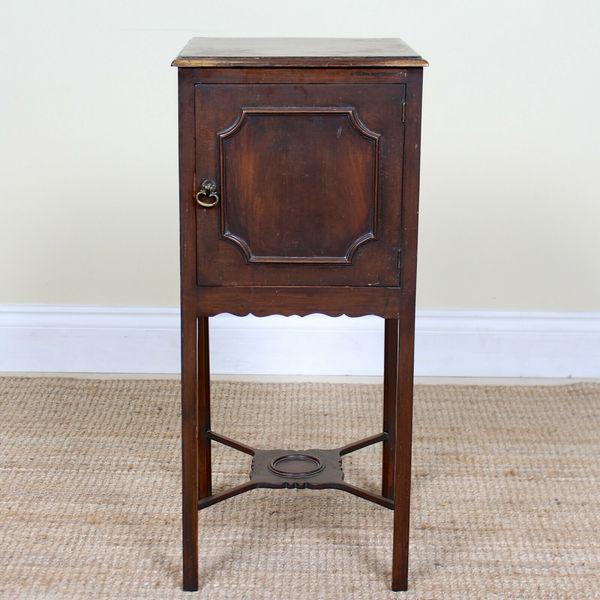 best loved 50f4c e6fb5 Antique Victorian Bedside Table Arts & Crafts Carved Mahogany Bedside  Cabinet
