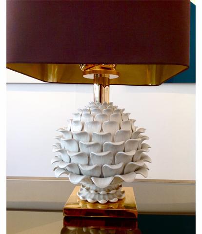 Large Ceramic Artichoke Lamp
