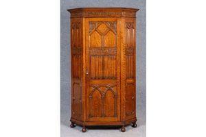 Thumb superb jacobean style oak hall wardrobe 0