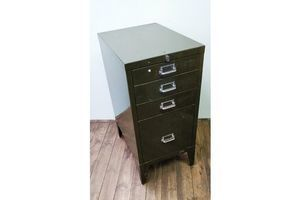 Thumb industrial metal filing drawers with larger bottom draw 0