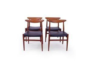 Thumb hans wegner w2 chairs in teak set of 4 0