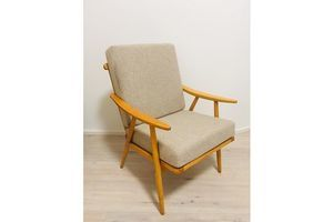 Thumb modernist beech boomerang armchairs from ton 1960s set of 2 0