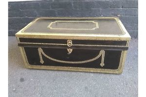 Thumb an early 19th century chinese leather brass studded trunk 0