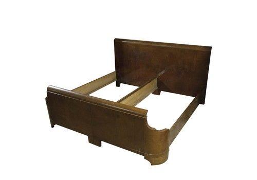 Art Deco Double Bed, 1930´S, Bohemia