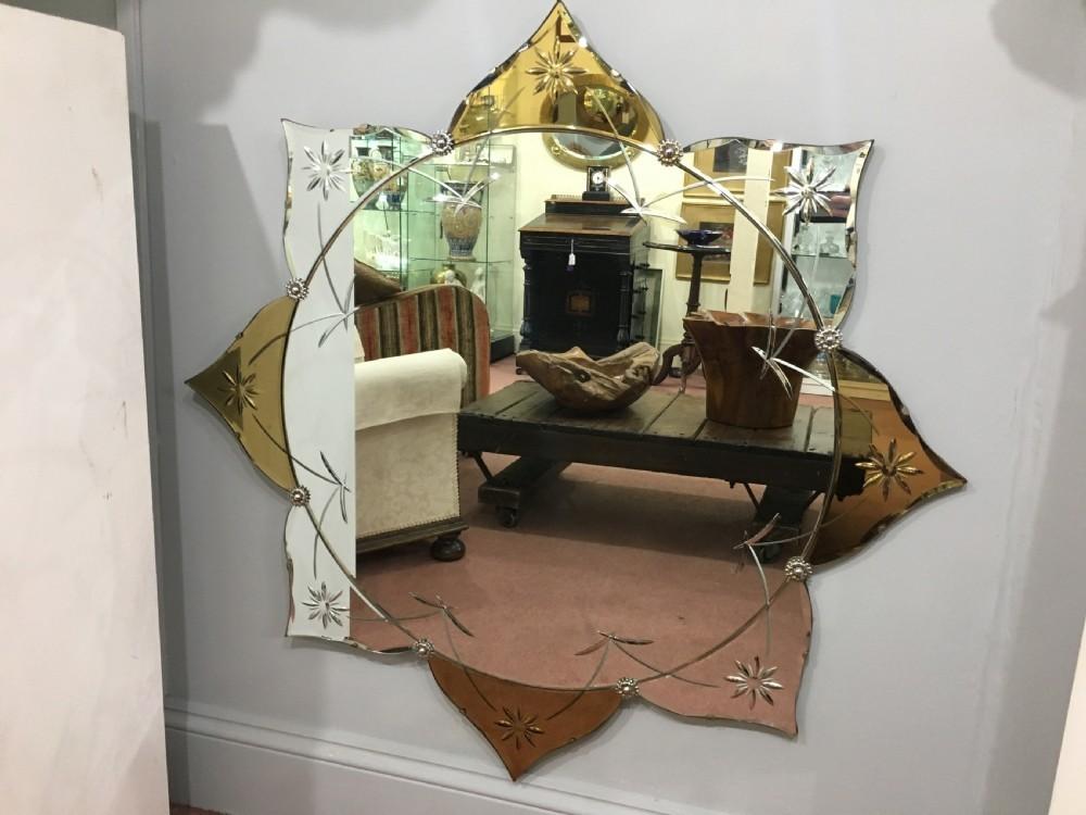Large Art Deco Mirror C1930 40 Vinterior