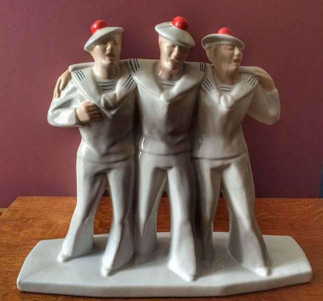 Art Deco French Matelots Singing Sailors