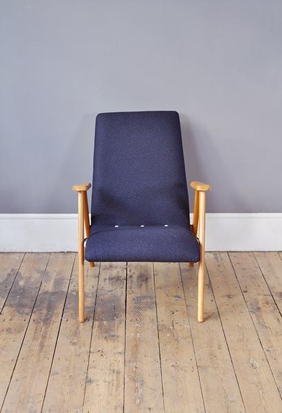 Blue Beech Low Back Armchair photo 1