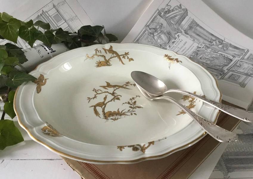 Serving Plate Limoges 1957, Queen Elizabeth Porcelain Dinner Set, Bernardaud Limoges 1957 Queen Elizabeth Visit France, Fine China Plates