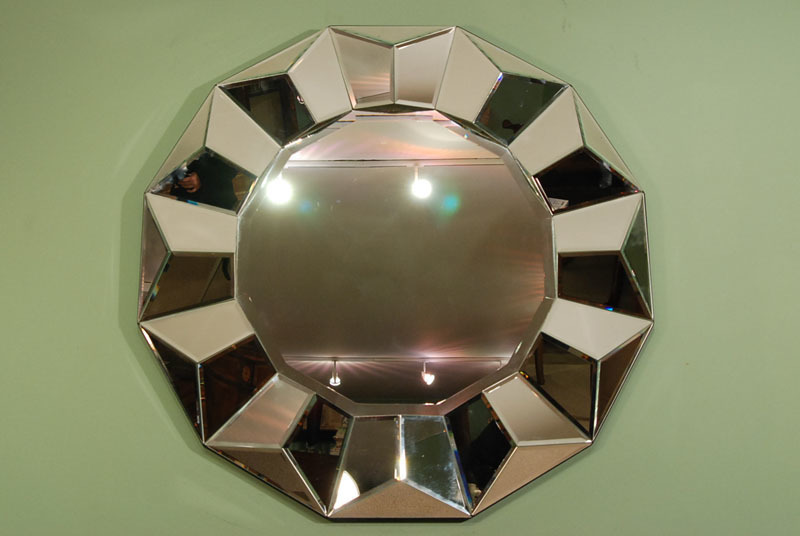 Wonderful Circular Art Deco Style Mirror
