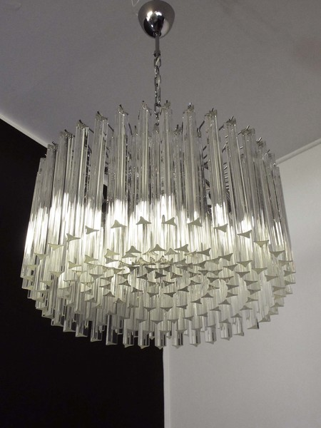 Italian Murano Glass Chandelier in Black from Vintage Grind