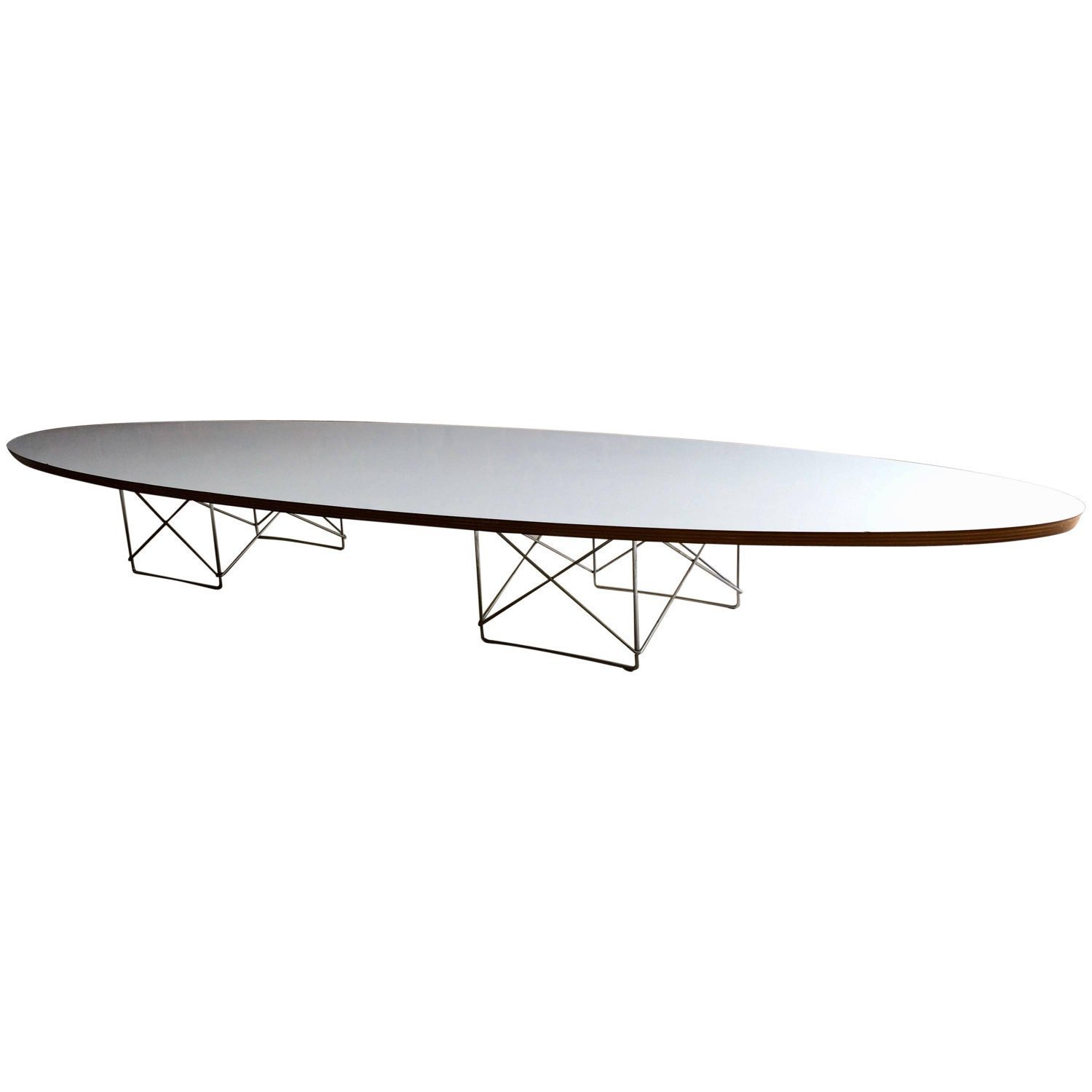 Eames Surfboard Coffee Table.Eames Elliptical Coffee Table For Herman Miller Surfboard Mid Century