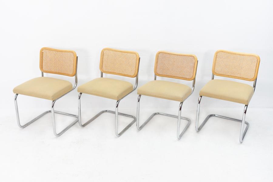 4 Marcel Breuer Cesca B32 Cantilever Chairs
