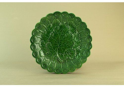 Green Majolica Serving Dish, Circa 1900