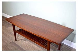 Thumb vintage midcentury danish two tier slatted coffee table in afromosia delivery modern retro 1960s 0