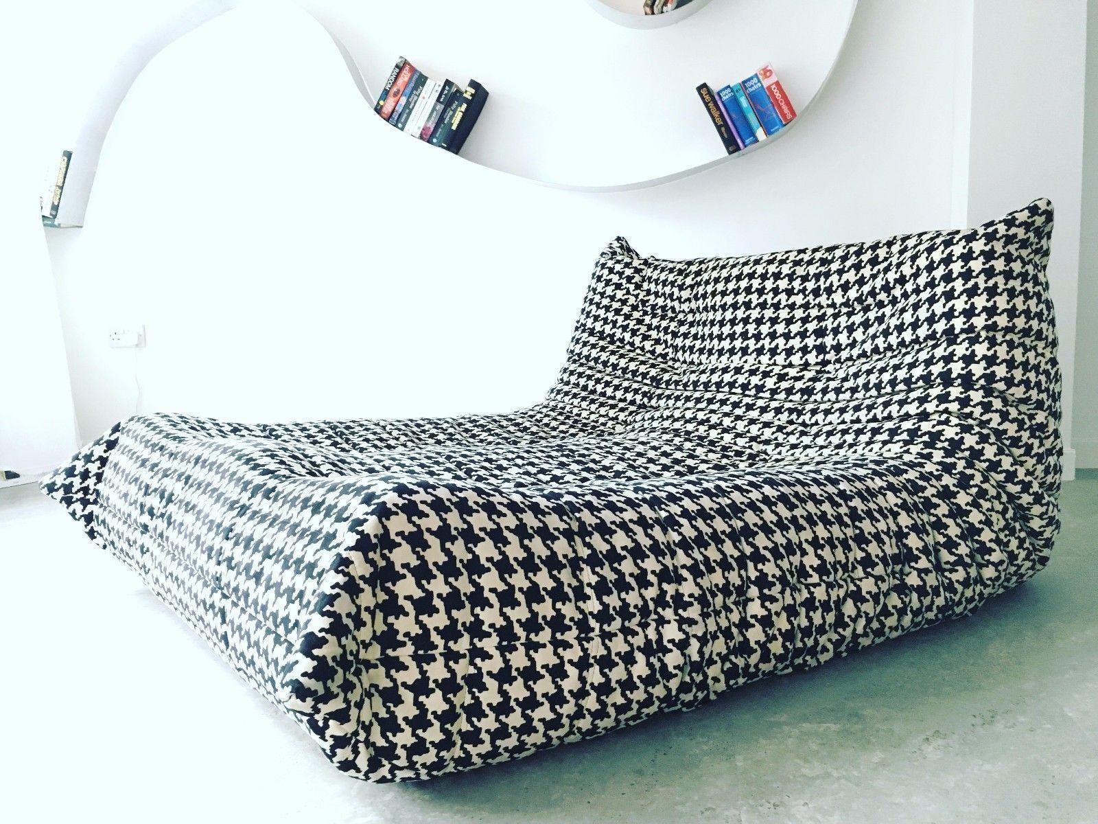 Design Vintage Modern Unique Ligne Roset Togo Sofa Chaise Longue Chair