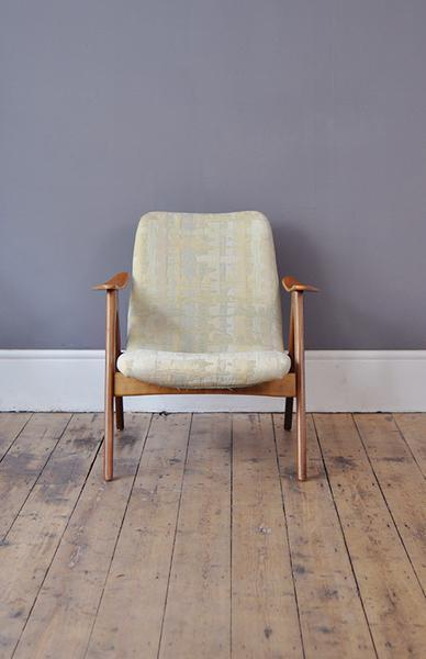 Dutch Low Back Teak Armchair   Part Of A Set