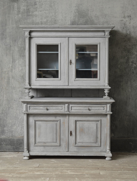 French 1th Century Glazed Buffet Deux Corps