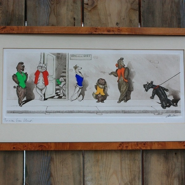 Hand Painted Etching Signed By The Artist Boris O'klien