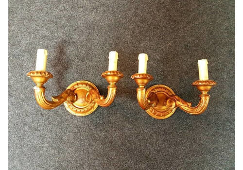 Wonderful Wooden Baroque Wallhangers/Candleholders
