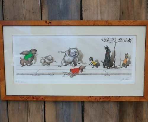 Hand Painted Etching Signed By The Artist