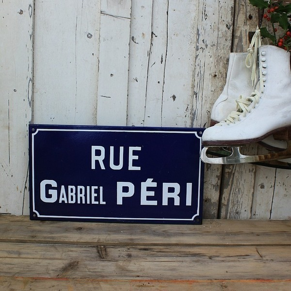 Original French Road Sign