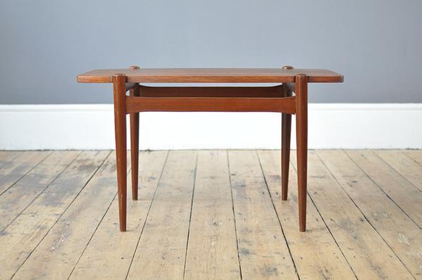 Danish Compact Teak Coffee Table photo 1