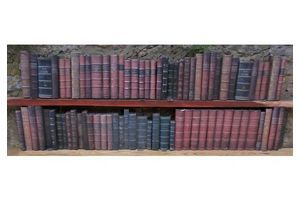 Thumb antique leather bound book spines faux leather false fake replica film props 10 unknown 0