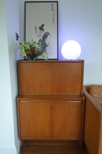 Retro Vintage Mid Century Danish Cocktail Bar Cabinet Bureau Storage