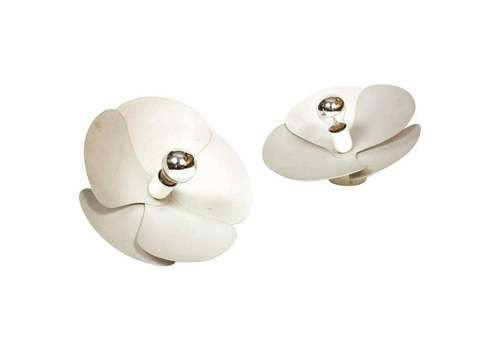 Model 2093 A Olivier Mourgue Pair Of 'Flower' Wall / Applique / Sconce Lights